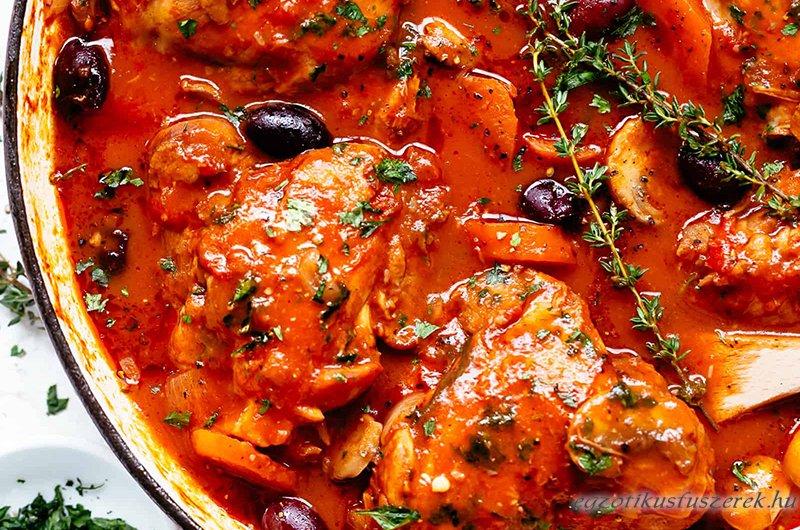 Cacciatore Csirke - az Olasz Csirkepaprikás