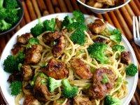 Kínai Csirkefalatok Spagettivel