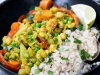 Thai Zöld Curry Citromnádas Csicseriborsóval