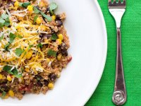 Gyors Egy-tál Mexikói Quinoa zöldségekkel