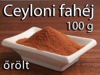 Fahéj, Ceyloni, őrölt 100 g-os kiszerelés