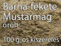 Mustármag, Fekete-Barna, őrölt - 100 g-os kiszerelés