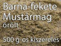 Mustármag, Fekete-Barna, egész - 500 g-os kiszerelés
