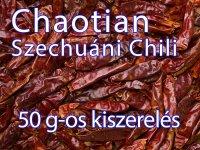 Chili - Chaotian, Szechuáni, egész - 50 g-os kiszerelés