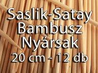 Saslik Nyárs - Satay Bambusz Pálca -20 cm, 12 darabos