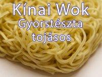 Kínai Gyorstészta, Wok tészta tojásos 500g