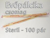 Evőpálcika 100 pár - 22,5 cm Sterilizált, eldobható