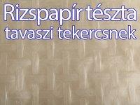 Rizspapír tészta, Tavaszi tekercsnek, 22 cm, 40 lap