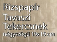 Rizspapír tészta, Tavaszi tekercsnek, négyszögletes 19x19cm, 500g