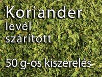 Korianderlevél, morzsolt - 50 g-os kiszerelés