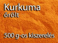 Kurkuma, őrölt - 500 g-os kiszerelés