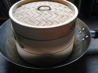 Bambusz gőzölő, 20 cm-es, 3 részes szett