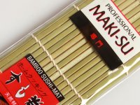 Sushi készítő, Maki formázó bambusz-szőnyeg