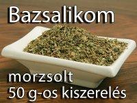 Bazsalikom, morzsolt