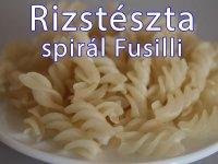 Rizstészta - Spirál Fusilli
