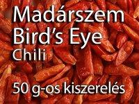 Madárszem Chili - Bird's Eye Chili, 50 g-os kiszerelés