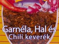 Garnélarák, Hal és Chili Keverék