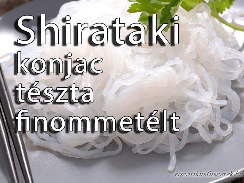 Shirataki tészta, finommetélt