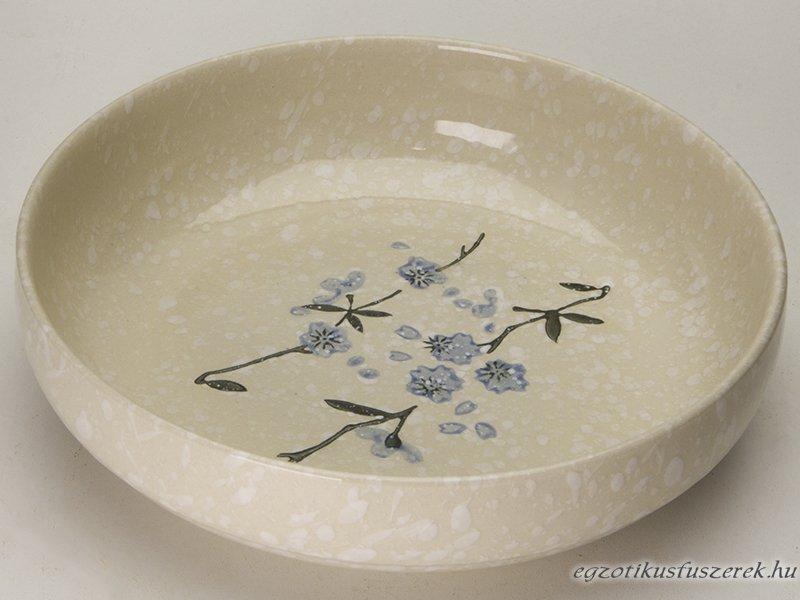 Snowflake mintás, Japán Leveses tányér - 17,6 cm