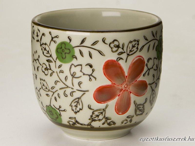 Teáscsésze - Virágmotívummal 150ml-es