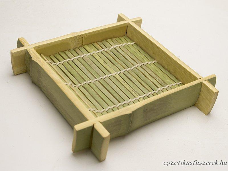 Sushi Bambusz Tálaló Tálca 12x12cm