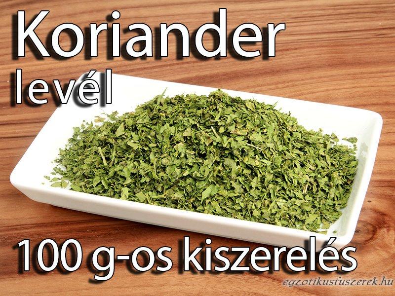 Korianderlevél, morzsolt - 100 g-os kiszerelés