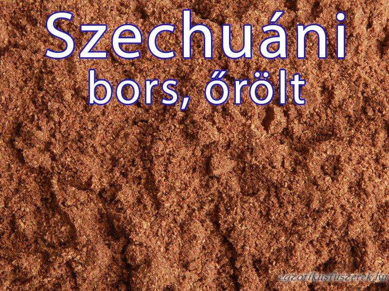Szechuáni bors, őrölt