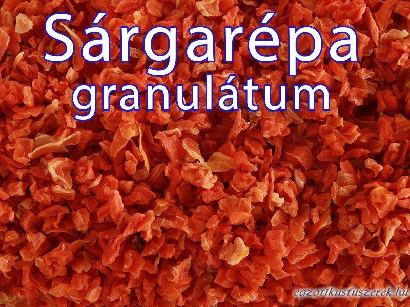 Sárgarépa dara, granulátum
