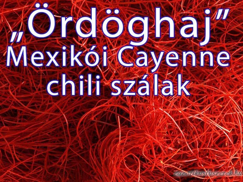 Chili szálak - Ördöghaj, Mexikói Cayenne