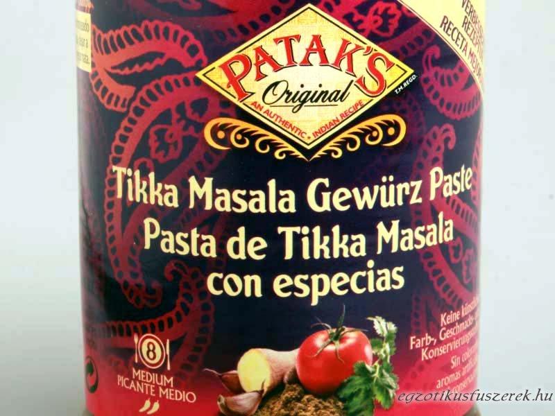 Tikka Masala Fűszerpaszta, Patak's