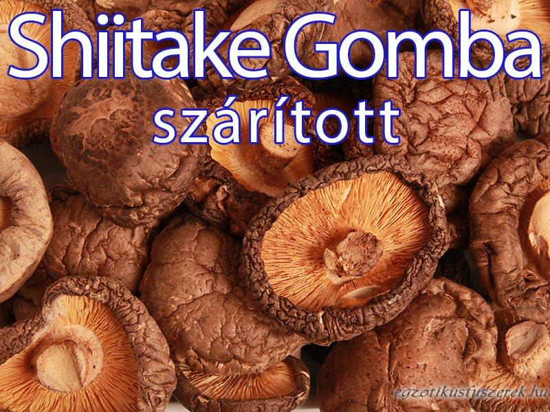 Shiitake Gomba, Szárított