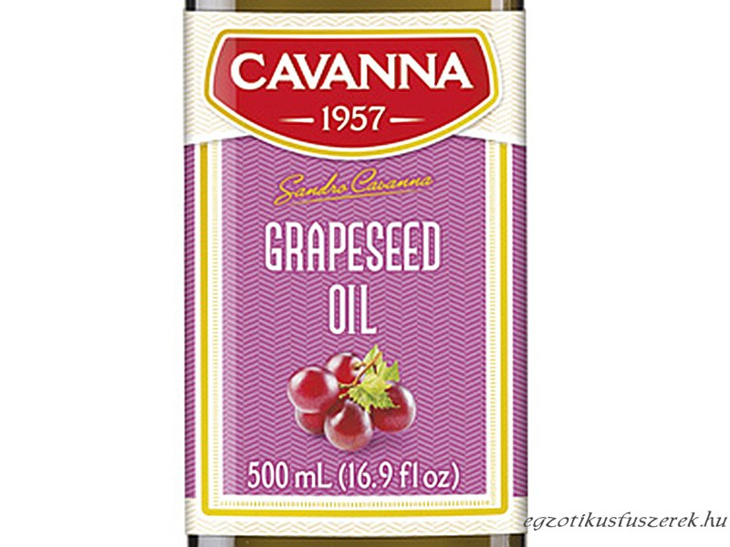 Szőlőmagolaj - vörös szőlőmagból, olasz, 500 ml