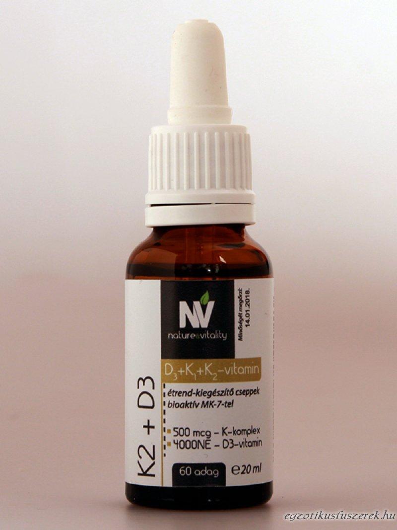 Vitamin K2 és D3, 20ml, 60 adag