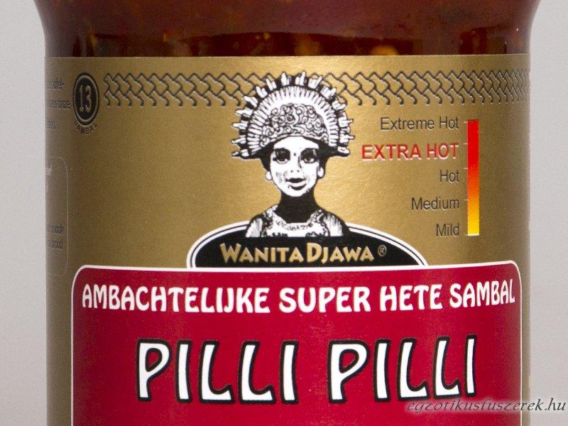 Pilli Pilli Sambal - Extra erős Chiliszósz