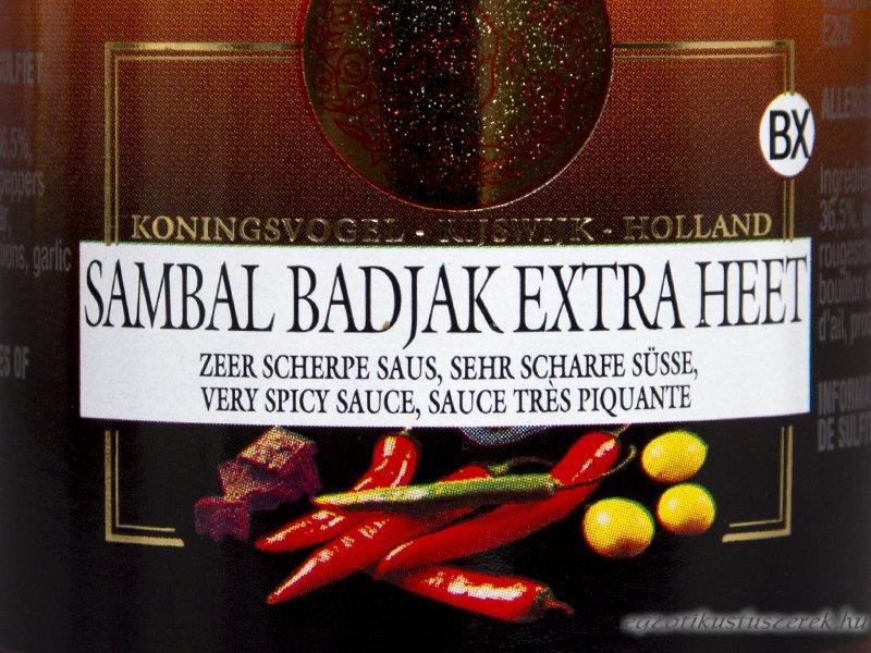 Sambal Badjak - Extra erős, Koningsvogel 200g