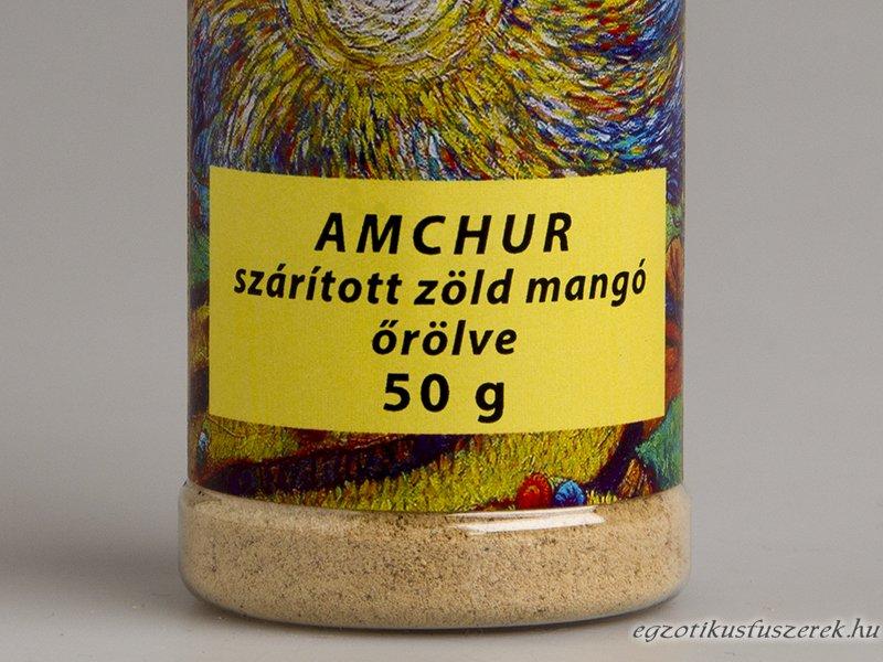 Amchur - Szárított Zöld Mango Fűszerszóróban 50g