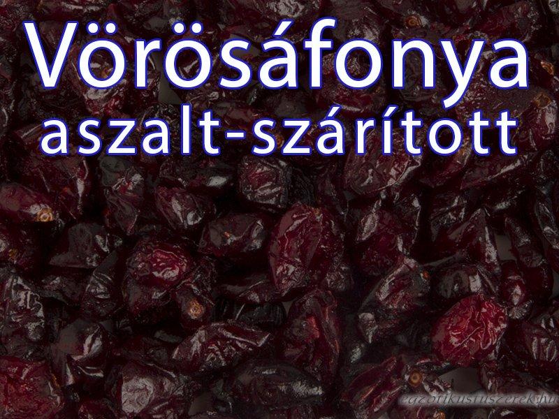 Vörösáfonya, aszalt, felezett bogyók 150 g