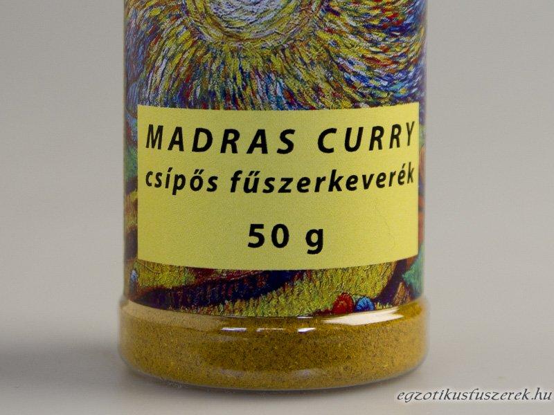 Madras Curry Csípős Fűszerkeverék Fűszerszóróban 50g